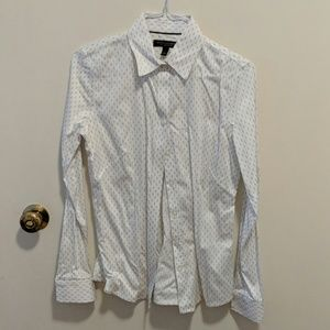 White non ironed fitted shirt
